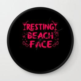 Resting Beach Face Funny Wall Clock