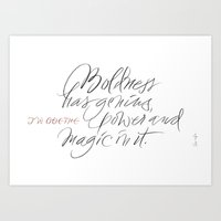 J. W. Goethe quote Art Print