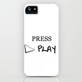 Press Play: White iPhone Case