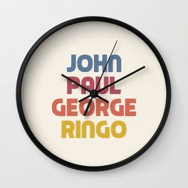 John Paul George Ringo Wall Clock