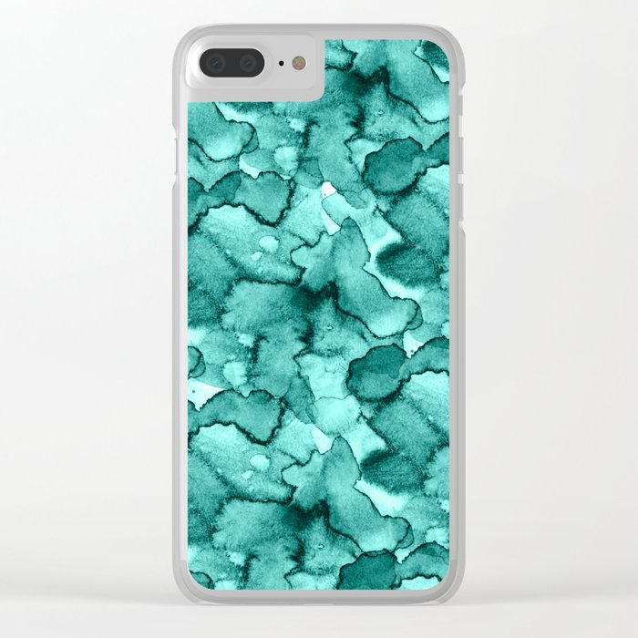 Abstract XVI Clear iPhone Case