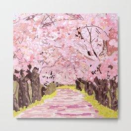 Cherry Blossom Trees Japan Metal Print