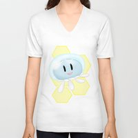 dmmd V-neck T-shirts featuring Lovable Jellyfish - DMMD - CLEAR by AwkwardBex