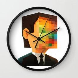 Pixel head Wall Clock