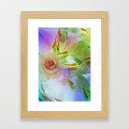 Rose And Goldfish Framed Art Print