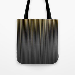 Modern Yellow and Black Jagged Ribbed Stripe Pattern Tote Bag