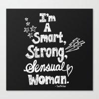 tina belcher Canvas Prints featuring Smart, Strong, Sensual Woman - Tina Belcher by Sewzinski