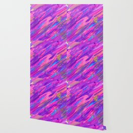 Abstract Pink and Purple Candyland Wallpaper