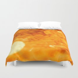 Macro Romanesco Broccoli - Bokeh Gold Duvet Cover