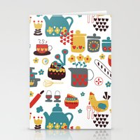 kitchen Stationery Cards featuring Kitchen by Kathrin Legg