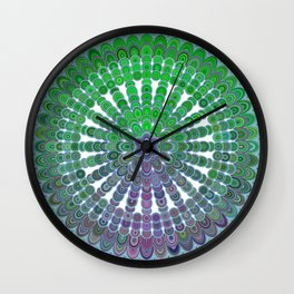 Spring Mandala Wheel Wall Clock