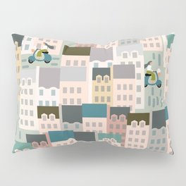 Motorbikes in the City Pillow Sham