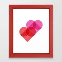 Geometric Love Framed Art Print
