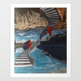 """""""Ascent/ Descent"""" Art Print"""