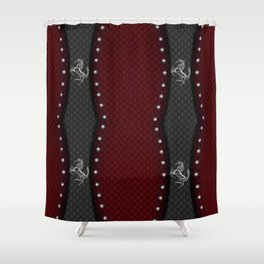 Prancing Horse~2 (Silver) Shower Curtain