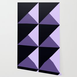 Trinity Color Block Ultra Violet Wallpaper