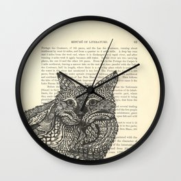 Meow Lounging Wall Clock