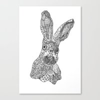 hare Canvas Prints featuring Hare by Eirik Walland Larsen
