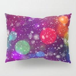 Whimsical abstract purple pink orange geometrical Pillow Sham