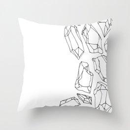 Crystal Shards Throw Pillow