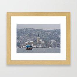 Bled Island Pletna Boat Framed Art Print