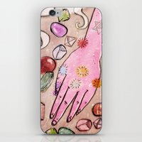 chakra iPhone & iPod Skins featuring Hand Chakra by Danielle Feigenbaum