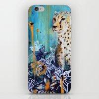 cheetah iPhone & iPod Skins featuring Cheetah by Sonal Nathwani
