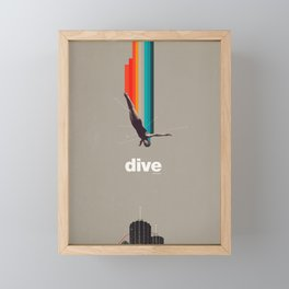 Dive Into My Soul Framed Mini Art Print