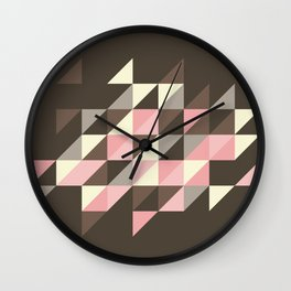 Triangles [strawberry mousse] Wall Clock