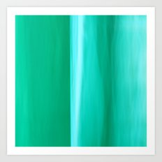 Abstract May II turquoise Art Print
