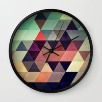 artists Wall Clocks featuring tryypyzoyd by Spires