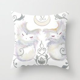 Moon & Mirror Twins Throw Pillow