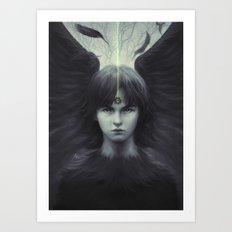 Eye of Raven Art Print