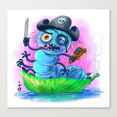 pirate worm Canvas Print