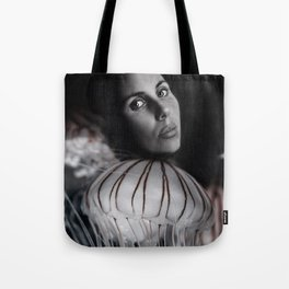 Jellyfish portrait Tote Bag
