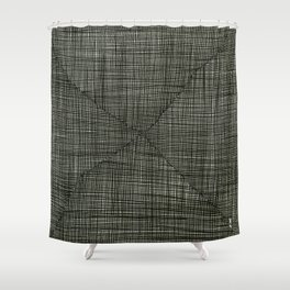 Ink Weaves: Charcoal Shower Curtain