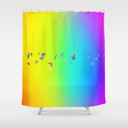 Rainbow Colours Shower Curtain
