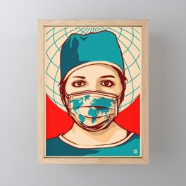 Shepard Fairey Global Forefront Framed Mini Art Print