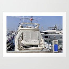 Prestige 550 Powerboat Art Print