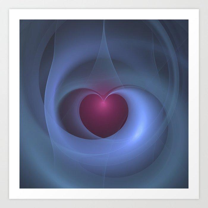 Take Care of My Heart Fractal Art Print