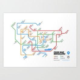 Bangalore Food Map Art Print