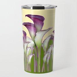 ART NOUVEAU CALLA LILIES PURPLE MODERN ART DESIGN Travel Mug