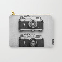 Old camera in black and white Carry-All Pouch