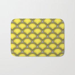Large scallops in buttercup yellow Bath Mat