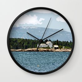 Winter Harbor Light - Acadia National Park Wall Clock