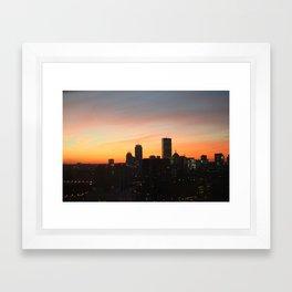 Boston Seaport Sunset Framed Art Print