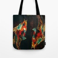 koi Tote Bags featuring Koi by James Peart
