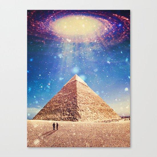 Pyramid beam Canvas Print