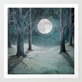 Moon Glow II Art Print