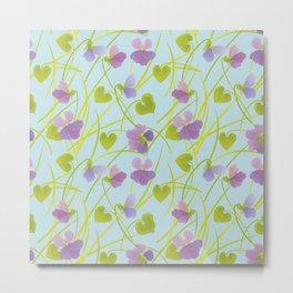Spring Time. Forest Violets. Metal Print